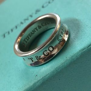 Tiffany&Co 1837 Silver Band Ring Size 7